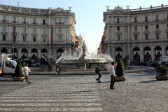 The Fountain of the Naiads on Piazza della Repubblica in Rome Royalty Free Stock Photo