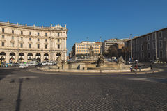 The Fountain of the Naiads on Piazza della Repubblica Royalty Free Stock Image