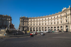 The Fountain of the Naiads on Piazza della Repubblica Stock Photo