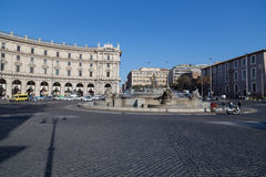 The Fountain of the Naiads on Piazza della Repubblica Royalty Free Stock Photo