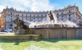 The Fountain of the Naiads in Rome Stock Photo