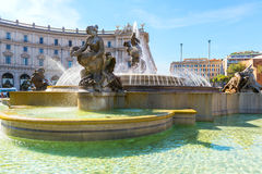 The Fountain of the Naiads in Rome Royalty Free Stock Photography