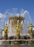 Fountain in National Exhibition Centre, Moscow Royalty Free Stock Photography