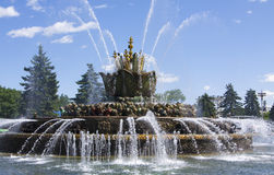 Fountain in National Exhibition Centre, Moscow Stock Photography