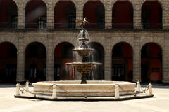 Fountain at National Palace Mexico City Stock Photos
