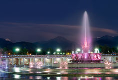 Fountain in National Park of Almaty Stock Images