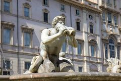 Fountain on the Navona square, Rome, Italy. Detail from fountain on the Navona square in Rome, Italy stock photography
