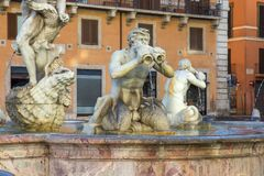 Fountain on the Navona square, Rome, Italy. Fountain on the Navona square in Rome, Italy stock photos