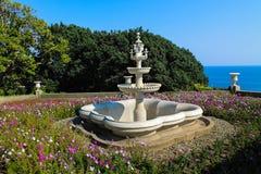 The fountain near the Alupka Palace Museum Stock Photo