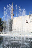 Fountain and temple Royalty Free Stock Photos