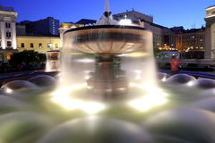 Fountain near the Bolshoi Theatre at night, Moscow, Russia Royalty Free Stock Images