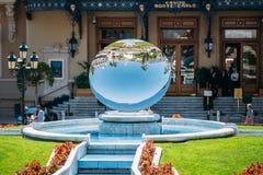 Fountain near Grand casino in Monte Carlo in Stock Photo