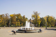 Fountain near House of assembly  Krasnodar Stock Image