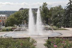 Fountain near the library Gorky in Pyatigorsk, Russia Stock Photo