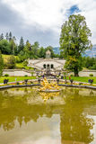 Fountain near Linderhof palace Royalty Free Stock Photos