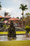 Fountain near main gate to Pura Taman Ayun Royalty Free Stock Photo