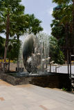 Fountain near  mall Central Festival, Pattaya Stock Photo