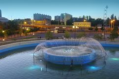 The city of Astrakhan. Russia. Fountain. stock images
