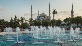Fountain near Sultan Ahmed Mosque Blue Mosque, Istanbul, Turkey stock image