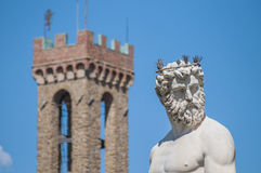 The Fountain of Neptune by Ammannati in Florence, Italy Royalty Free Stock Photo