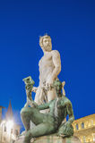 The Fountain of Neptune by Ammannati in Florence, Italy Stock Image