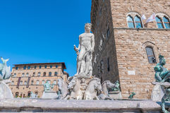 The Fountain of Neptune by Ammannati in Florence, Italy Stock Photography