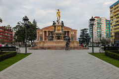 Fountain of the Neptune in Batumi,Georgia. Royalty Free Stock Photo