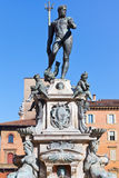 Fountain of Neptune with blue sky background, Bologna Royalty Free Stock Image
