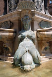 Fountain of Neptune in Bologna. Detail of the Fountain of Neptune in Bologna, Italy Stock Photography