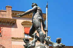 Fountain of Neptune. Bologna. Emilia-Romagna. Italy. Royalty Free Stock Images