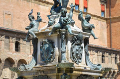 Fountain of Neptune. Bologna. Emilia-Romagna. Italy. Stock Photography