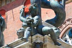 Fountain of Neptune. Bologna. Emilia-Romagna. Italy. Royalty Free Stock Photo