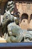 Fountain of Neptune. Bologna. Emilia-Romagna. Italy. Royalty Free Stock Image