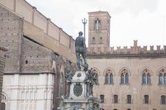 Fountain of Neptune, Bologna. Fountain of Neptune - Fontana di Nettuno by Giambologna 1567, Piazza Maggiore Square, Bologna, Italy stock photography