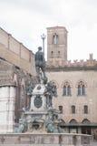 Fountain of Neptune, Bologna. Fountain of Neptune - Fontana di Nettuno by Giambologna 1567, Piazza Maggiore Square, Bologna, Italy stock image