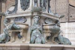 Fountain of Neptune, Bologna. Fountain of Neptune - Fontana di Nettuno by Giambologna 1567, Piazza Maggiore Square, Bologna, Italy royalty free stock images