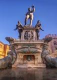 Fountain of Neptune in Bologna Stock Photos