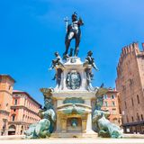 Fountain of Neptune, Bologna, Italy. Royalty Free Stock Photography