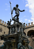 Fountain of Neptune, Bologna. The Fountain of Neptune is a monumental civic fountain located in the eponymous square, Piazza Nettuno, next to Piazza Maggiore, in royalty free stock images