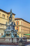 Fountain of Neptune, Bologna. The Fountain of Neptune is a monumental fountain located in the eponymous square, Piazza del Nettuno, next to Piazza Maggiore, in stock images