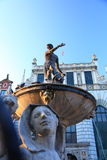 Fountain Neptune, Danzing. Neptun fountain in Gdansk Danzing Poland Royalty Free Stock Photos