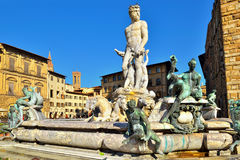 The fountain of Neptune, Florence Stock Photos