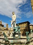 Fountain of Neptune in Florence Stock Images
