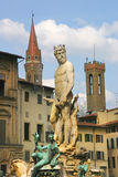 Fountain of Neptune in Florence, Italy. Stock Photos