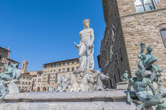 The Fountain of Neptune in Florence, Italy Stock Image