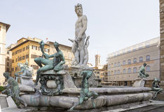 Fountain of Neptune. Florence Stock Images
