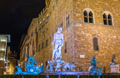 The Fountain of Neptune in Florence Royalty Free Stock Photography
