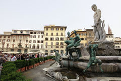 Fountain of Neptune in Florence, Italy Royalty Free Stock Photos