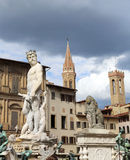 Fountain of Neptune in FLORENCE ITALY Royalty Free Stock Photos