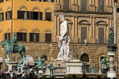 Fountain of Neptune in Florence, Piazza della Signoria, Italy Royalty Free Stock Image